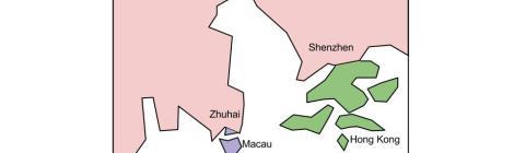 Hong Kong, Macau, Zhuhai, Shenzhen, Guangzhou