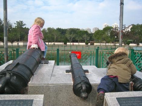 Cannons at Fanling Wai.