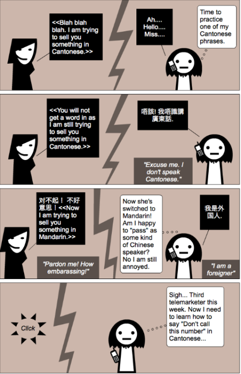 expatlingo telemarketing comic