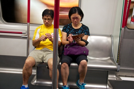 Hongkongers on the MTR