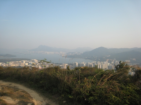 View from Cloudy Hill, Tai Po toward Ma On Shan