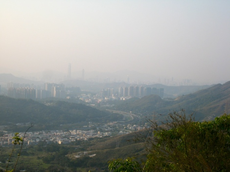View of Shenzhen from Hong Kong (Tai Po)