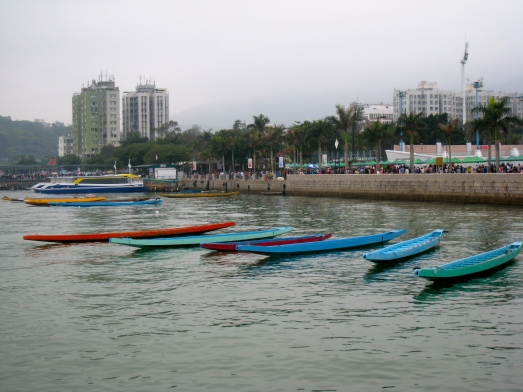 Colored boats in Sai Kung