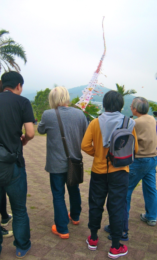 Colored shoes on Sai Kung kite enthusiast