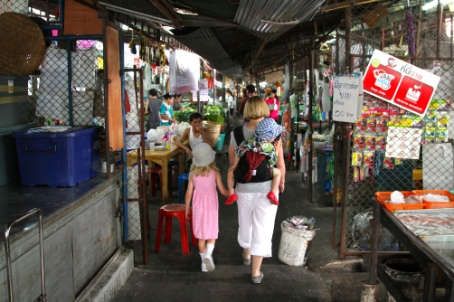 Through a market in Chiang Mai