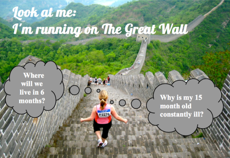 Expat (me) on Great Wall Run