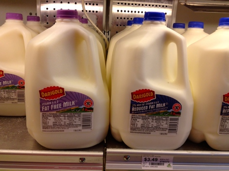 Gallons of milk in America
