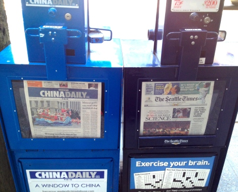 "English ""China Daily"" in Seattle"
