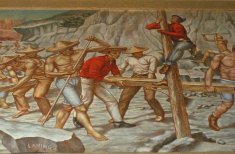 Detail of mural in Union Station