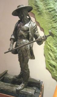 Chinese laborer statue at Utah State Railroad Museum