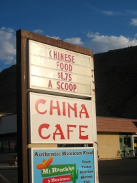 Sign for budget Chinese food in Moab, Utah