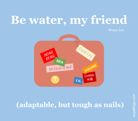 Be water, my friend (Bruce Lee) _ expatlingo.com