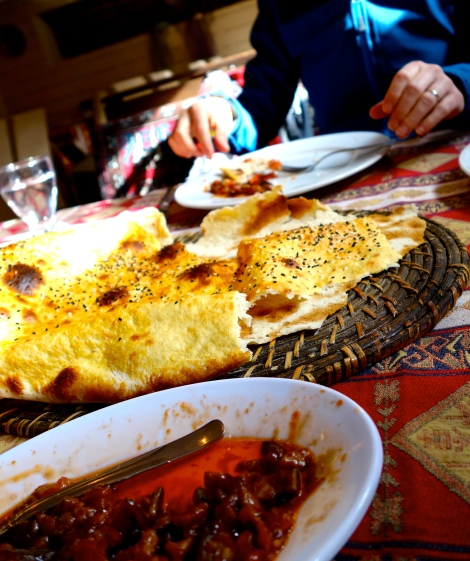 Eggplant + tomato + olive oil + bread = heaven