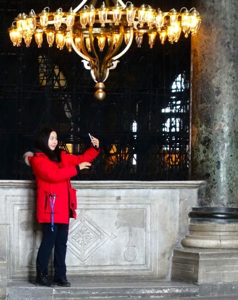 Taking a selfie  in Aya Sofya
