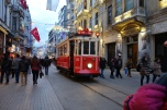 Tram en route to Taksim Square