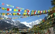 Prayer flags near Mingyong Glacier _ expatlingo.com
