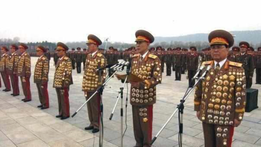 North Korean military badges