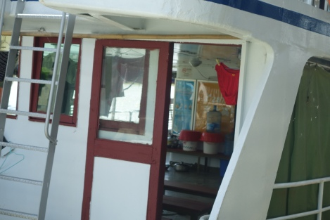 Red underpants on Zhuhai Macau ferry