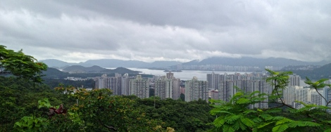 View towards Tai Po and across the Tolo Harbour