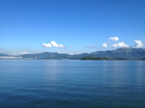 View from Ma On Shan across Tolo Harbour.