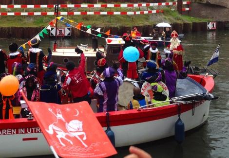 Sinterklaas' arrival in Utrecht