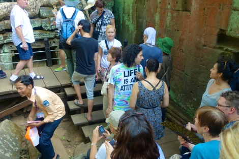 Ta Prohm crowds (including at least one bigot!).