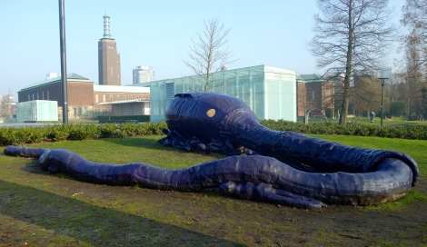 """Darwin"" by Atelier Van Lieshout. Also known as giant purple sperm."