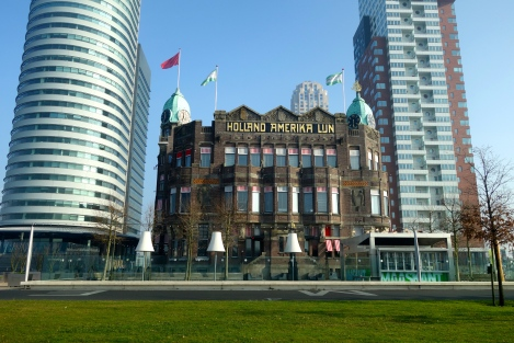 The historic Holland America Lijn offices. Now the New York Hotel.