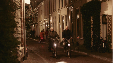 Screen capture from the lovely short video, Cycling Utrecht, by Morton Koldby.