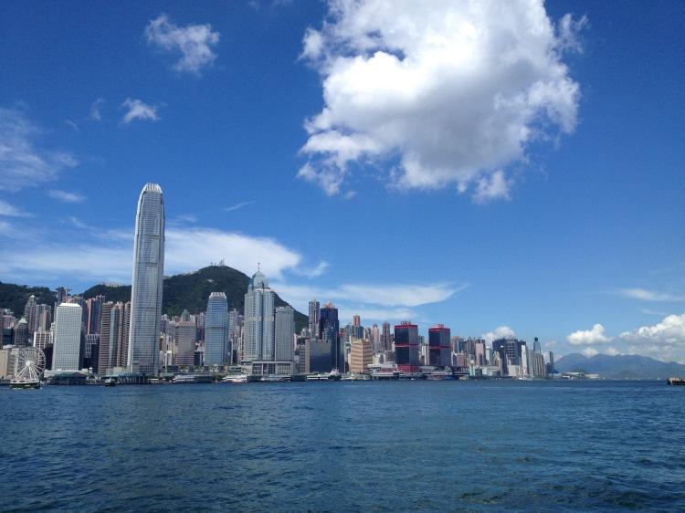 Blue skies over Central Hong Kong