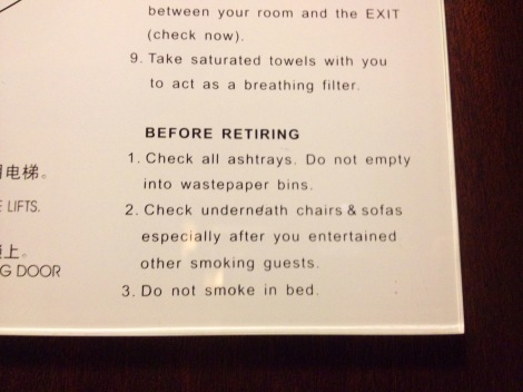 Zhuhai hotel smoking warning _ expatlingo.com