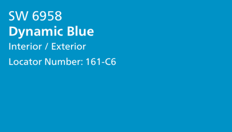 Dynamic Blue (paint color by Sherwin Williams)